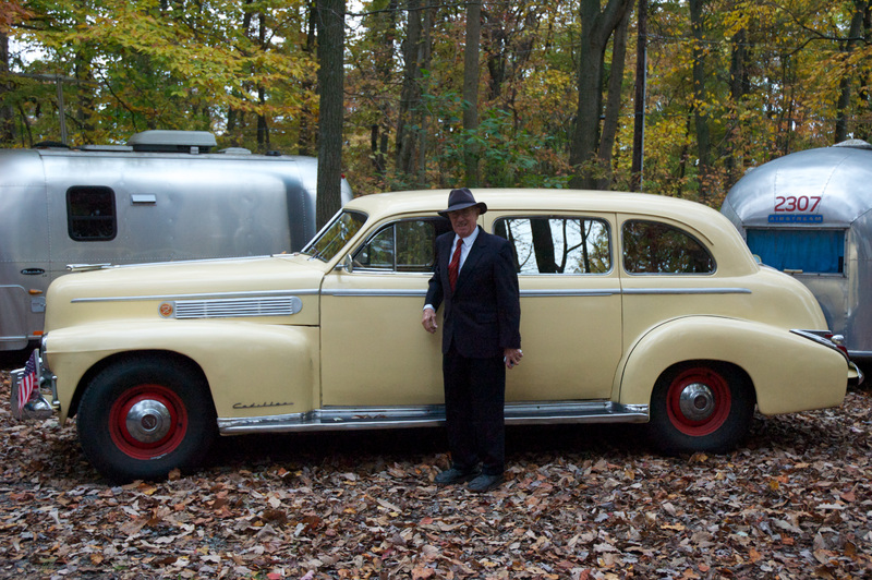 Stuart with his Cadillac and Airstream, Manheim, PA, October, 2011.